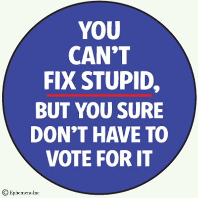 Image result for you cant fix stupid